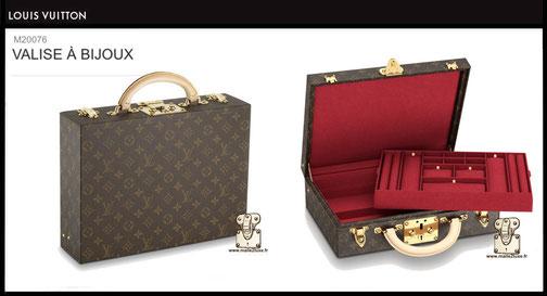 M47120 - Valise à bijoux 34 cm x 26 cm x 10 cm Louis Vuitton prix neuf