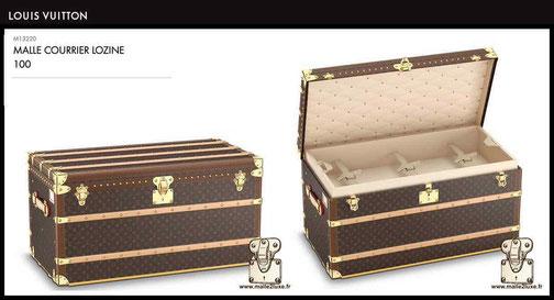 M13220 - Malle courrier 100 prix de malle neuve Louis Vuitton 24000 euros