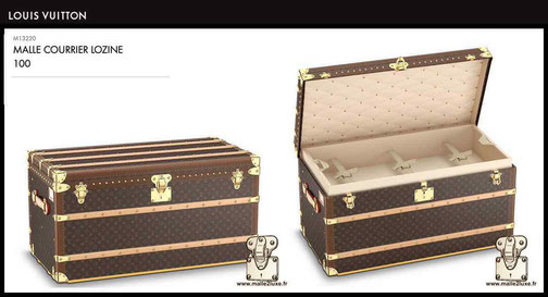 M13220 - Mail trunk 100 price of new Louis Vuitton trunk 24,000 euros