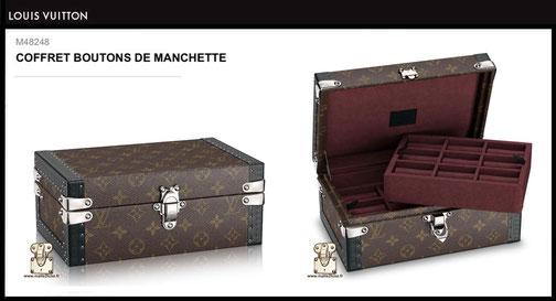 M48248 - Coffret boutons de manchette Louis Vuitton prix neuf 3900 euros