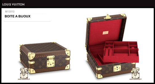 M13513 - Boite à bijoux Louis Vuitton prix 3900 euros neuf