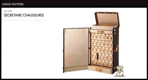 M11020 - Malle secrétaire chaussures Louis Vuitton prix du neuf 48000 euros