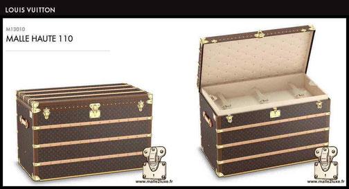 M131010 - Malle courrier haute 110 prix du neuf Louis Vuitton 30000 euros