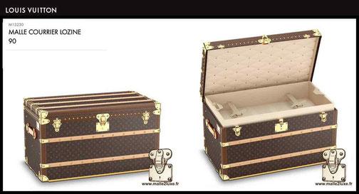 M13230 - Malle courrier 90 prix du malle neuf Louis Vuitton 23000 euros