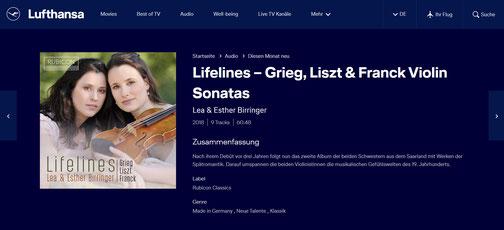 Lea Birringer im Lufthansa Bordprogramm
