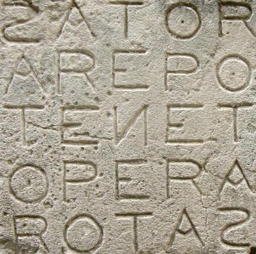 SATOR-QUADRAT - SATOR AREPO TENET OPERA ROTAS