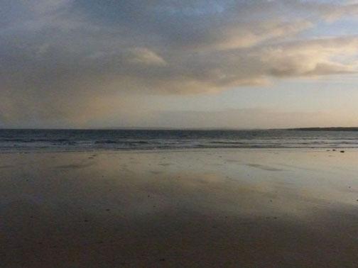 ©Claudia Dorka, Abendsstimmung, Irland, Strand, Wasser, Wolken