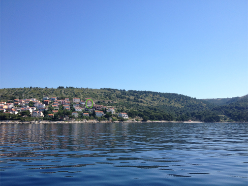 House location seen from the sea