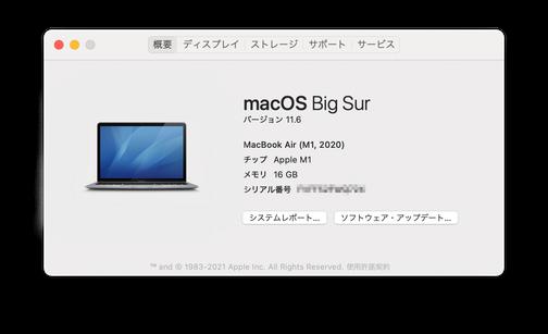 MacBook Air(M1,2020)
