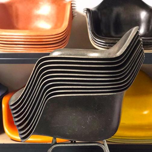 Eames, Fiberglass, Armchair, Elephant Hide Grey, Herman Miller, Vitra, Eames Fiberglass Chair, Concept Modern