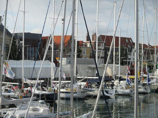 Auriga im voll belegten Dockhafen / Vlissingen
