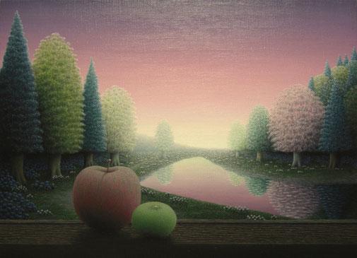 「茜色の夢」油彩・キャンバス P8