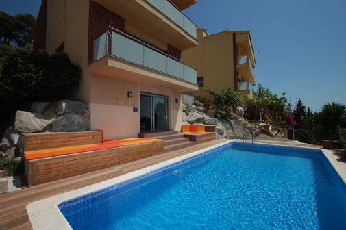 Belle villa à louer pour de belles vacances à Blanes Santa Susanna sur la Costa Brava