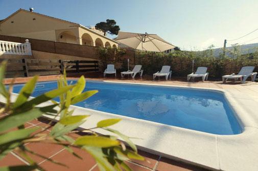 Votre villa de vacances à louer à Lloret de Mar avec piscine privée.