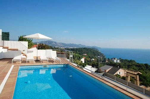 Villa de haut standing, villas de luxe en location vacances à Blanes