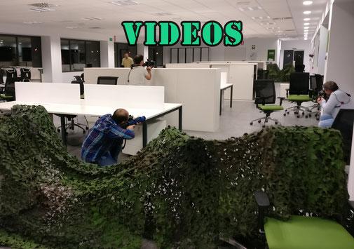 Vídeos de láser combat en actividades a domicilio