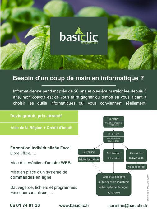 Flyer Basiclic : Besoin d'un coup de main en informatique ?