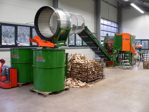 Produktion Buchenholz