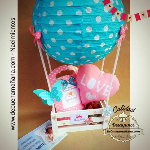 globo nacimiento, regalo nacimiento, kit padres primerizos, kit nacimiento, regalos personalizados, regalos embarazadas, baby shower, de buena mañana, debuenamaniana