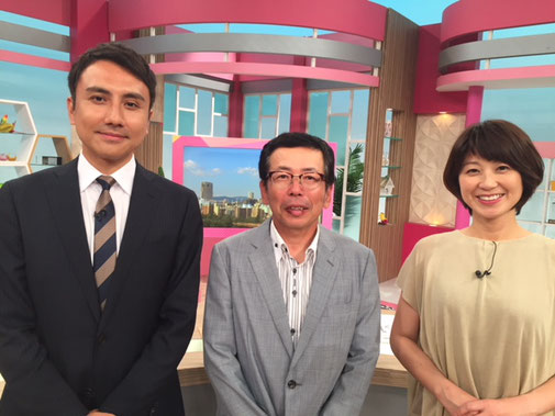 '18年7月24日広島テレビ「テレビ派」に出演いたしました。