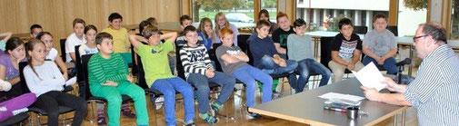 Lesung in einer Mittelschule in Vorarlberg