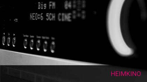 Nahaufnahme einer Audio Verstärkerfront