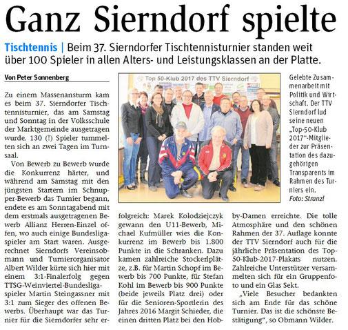 Die aktuelle Korneuburger NÖN berichtete ausführlich über unser Turnier!