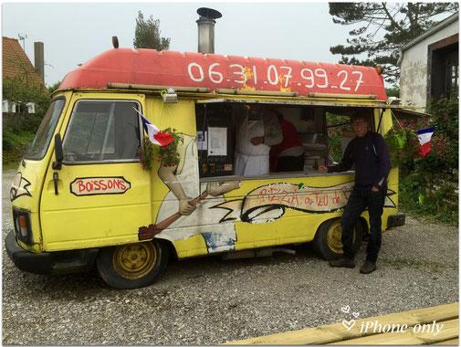 de mobiele pizzeria van Tardinghen, een van de beste ever!