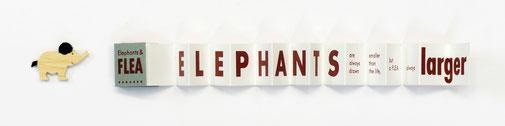 14. Band Johnatan Swift (englisch) – Elephants & Flea, Beilage: kleiner Holz-Elefant