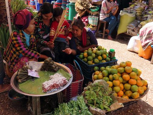 Marktfrauen in Kalaw