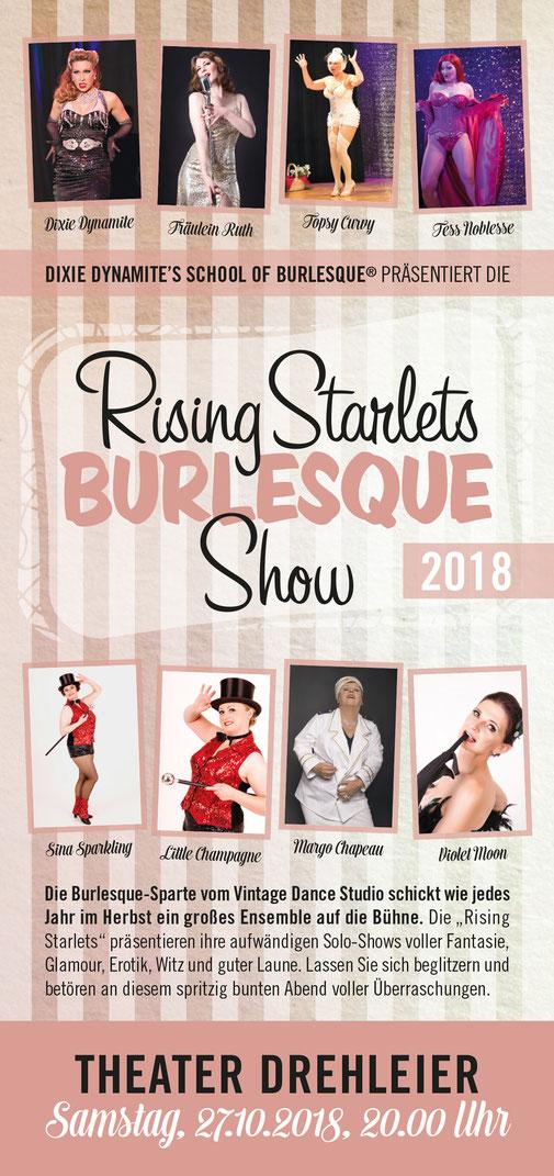 6cf5c625d5 Burlesque-Show in München: Die Rising Starlets von Dixie Dynamite's School  Of Burlesque zeigen