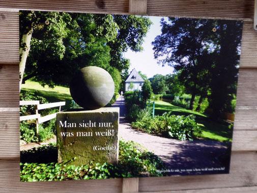 Stein des guten Glücks im Goethe-Garten an der Ilm