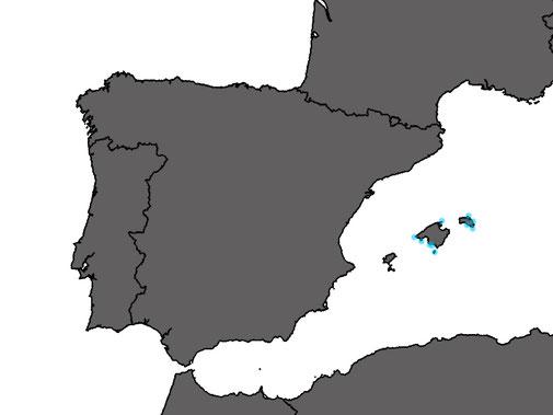 Distribution Podarcis lilfordi