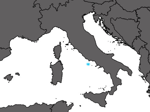 The distribution range of Podarcis latastei