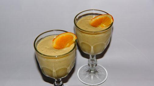 Weihnachten vegan - Dessert - Zarter Orangen-Schaum - fair4world