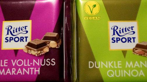 Vegane Schokoladen von Ritter Sport im Test - fairani