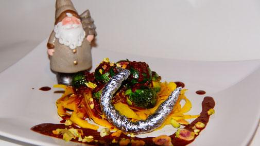 Weihnachten vegan - Hauptspeise - Kürbis-Tagliatelle mit Sauce au Chocolat - fair4world