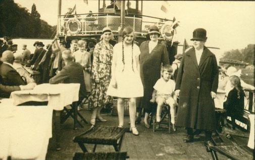 """1930 Dampferfahrt auf der """"Kronprinz Wilhelm"""""""