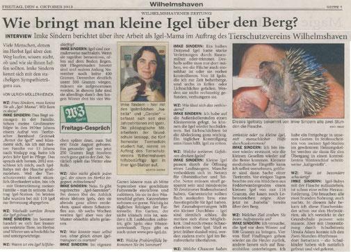 Wilhelmshavener Zeitung v. 4.10.2013