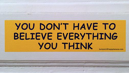 MBSR Gero Sprafke Stress Umgang mit Gedanken - Glaub nicht alles, was Du denkst.