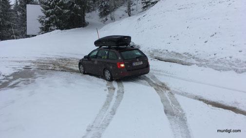 Franzi nahm die letzten Meter rückwärts... :-)