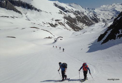 kurzer Aufstieg retour zur Glorerhütte