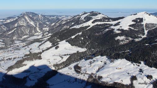 Wieserhörndl, Spielbergalm mit Skigebiet