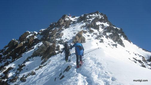 die letzten Meter ohne Ski