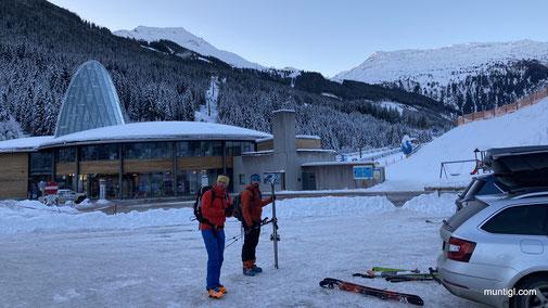 Gegen 8Uhr Abgang beim Skizentrum Angertal bei knackigen -10Grad