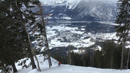 kurz oberhalb der bayrischen Jägerhütte