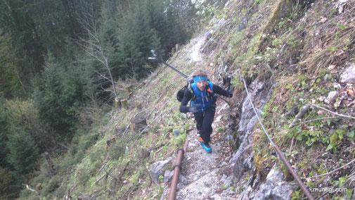 am Weg zur Roßberg-Hütte