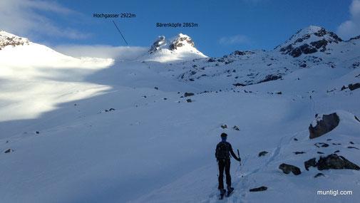 wenige Meter vor der Grünseehütte (2235m)