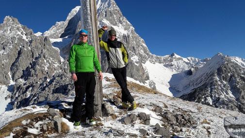 """nach dem """"Latschen-Klassiker"""" waren wir in 30min oben (Foto by Pongruber Christian, Hochlam U-berg)"""
