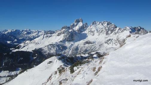 Gipfelblick zur Bischofsmütze